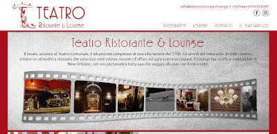 Sito www.teatroristorantelounge.it